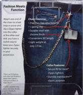 CHAIN & STREET CHROME LIGHTER COMBO IN A GIFT BOX_ZIPPO #24414