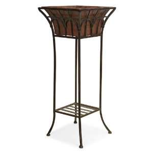 Distressed Wrought Iron Garden Plant Stand Patio, Lawn & Garden